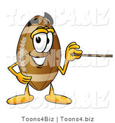 Illustration of an American Football Mascot Holding a Pointer Stick by Toons4Biz