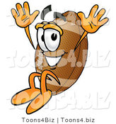 Illustration of an American Football Mascot Jumping by Toons4Biz