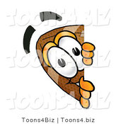Illustration of an American Football Mascot Peeking over a Surface by Toons4Biz