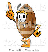 Illustration of an American Football Mascot Pointing Upwards by Toons4Biz