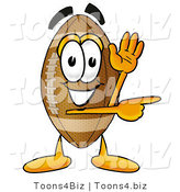 Illustration of an American Football Mascot Waving and Pointing by Toons4Biz