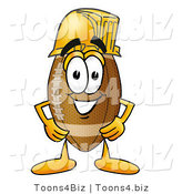 Illustration of an American Football Mascot Wearing a Helmet by Toons4Biz