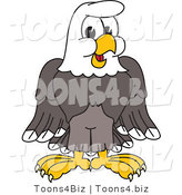 Vector Illustration of a Bald Eagle Character by Toons4Biz