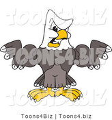 Vector Illustration of a Bald Eagle Mascot Flexing Muscles by Toons4Biz