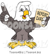 Vector Illustration of a Bald Eagle Mascot Holding a Report Card by Toons4Biz