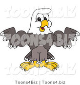 Vector Illustration of a Bald Eagle Mascot Shrugging or Flexing by Toons4Biz