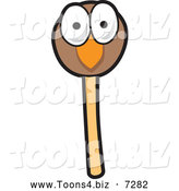 December 19th, 2013: Vector Illustration of a Bird Face Cake Pop by Toons4Biz