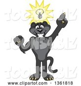 Vector Illustration of a Black Panther School Mascot with an Idea, Symbolizing Being Resourceful by Toons4Biz