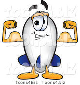 Vector Illustration of a Blimp Mascot Flexing His Muscles by Toons4Biz