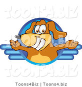 Vector Illustration of a Brown Dog Mascot Logo with Open Arms by Toons4Biz