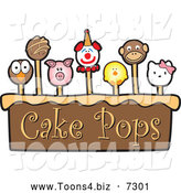 November 26th, 2013: Vector Illustration of a Cake and Cute Pops by Toons4Biz