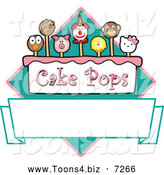 November 25th, 2013: Vector Illustration of a Cake Pops Diamond and Banner by Toons4Biz