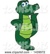 Vector Illustration of a Cartoon Alligator Mascot Leaning by Toons4Biz