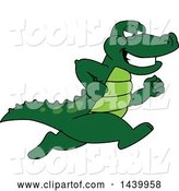 Vector Illustration of a Cartoon Alligator Mascot Running by Toons4Biz