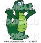 Vector Illustration of a Cartoon Alligator Mascot Welcoming or Cheering by Toons4Biz