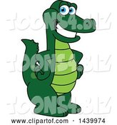 Vector Illustration of a Cartoon Alligator Mascot with Hands on His Hips by Toons4Biz