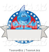 Vector Illustration of a Cartoon American Water Drop Mascot Logo by Toons4Biz