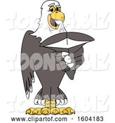 Vector Illustration of a Cartoon Bald Eagle Mascot by Toons4Biz