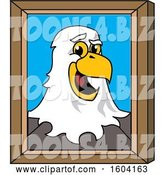 Vector Illustration of a Cartoon Bald Eagle Mascot Portrait by Toons4Biz