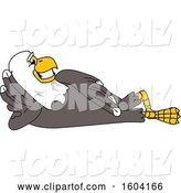 Vector Illustration of a Cartoon Bald Eagle Mascot Relaxing by Toons4Biz