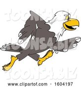 Vector Illustration of a Cartoon Bald Eagle Mascot Running by Toons4Biz