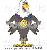 Vector Illustration of a Cartoon Bald Eagle Mascot Wearing a Sports Medal by Toons4Biz