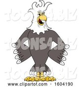 Vector Illustration of a Cartoon Bald Eagle Mascot with a Mohawk by Toons4Biz