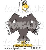 Vector Illustration of a Cartoon Bald Eagle Mascot with Hands on His Hips by Toons4Biz
