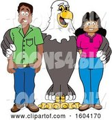Vector Illustration of a Cartoon Bald Eagle Mascot with Parents by Toons4Biz