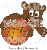 Vector Illustration of a Cartoon Bear Mascot Grabbing a Basketball by Toons4Biz