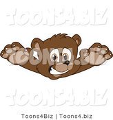 Vector Illustration of a Cartoon Bear Mascot Lunging by Toons4Biz