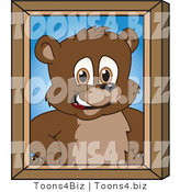 Vector Illustration of a Cartoon Bear Mascot Portrait by Toons4Biz