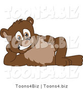 Vector Illustration of a Cartoon Bear Mascot Reclined by Toons4Biz