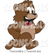 Vector Illustration of a Cartoon Bear Mascot Running by Toons4Biz
