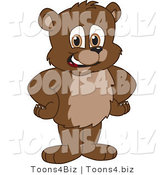 Vector Illustration of a Cartoon Bear Mascot Standing with His Hands on His Hips by Toons4Biz
