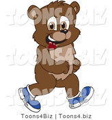 Vector Illustration of a Cartoon Bear Mascot Walking in Shoes by Toons4Biz