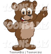 Vector Illustration of a Cartoon Bear Mascot with an Idea by Toons4Biz