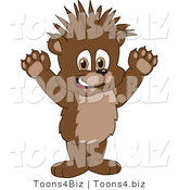 Vector Illustration of a Cartoon Bear Mascot with Spiked Hair by Toons4Biz