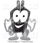 Vector Illustration of a Cartoon Binder Clip Mascot Pointing Outwards by Toons4Biz