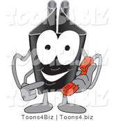 Vector Illustration of a Cartoon Binder Clip Mascot Using a Phone by Toons4Biz