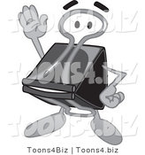 Vector Illustration of a Cartoon Binder Clip Mascot Waving by Toons4Biz