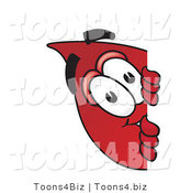 Vector Illustration of a Cartoon Blood Droplet Mascot Peeking Around a Corner by Toons4Biz