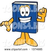 Vector Illustration of a Cartoon Blue Book Mascot Gesturing Ok by Toons4Biz