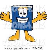Vector Illustration of a Cartoon Blue Book Mascot Wanting a Hug by Toons4Biz