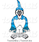 Vector Illustration of a Cartoon Blue Jay Mascot by Toons4Biz