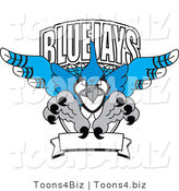 Vector Illustration of a Cartoon Blue Jays Mascot Logo by Toons4Biz