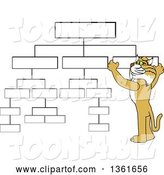 Vector Illustration of a Cartoon Bobcat Mascot Setting up a Chart, Symbolizing Organization by Toons4Biz