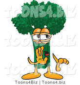 Vector Illustration of a Cartoon Broccoli Mascot Whispering by Toons4Biz