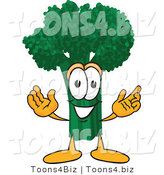 Vector Illustration of a Cartoon Broccoli Mascot with Open Arms by Toons4Biz