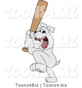Vector Illustration of a Cartoon Bulldog Mascot Holding a Baseball Bat by Toons4Biz